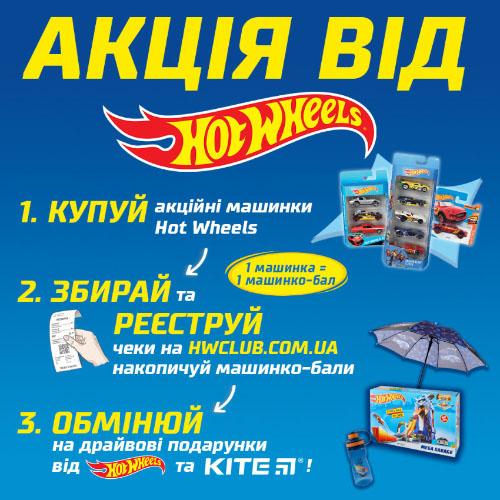 Всеукраїнська акція на базові машинки від Hot Wheels!