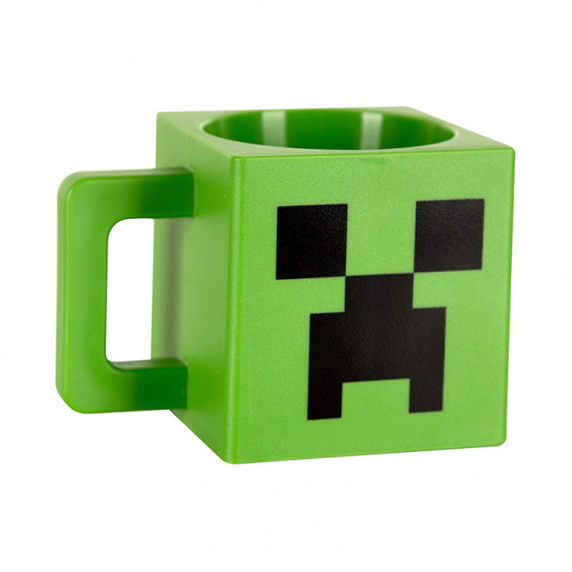 JINX Minecraft Кружка Plastic Creeper Face Mug-N/A-Green (пластикова) - 2