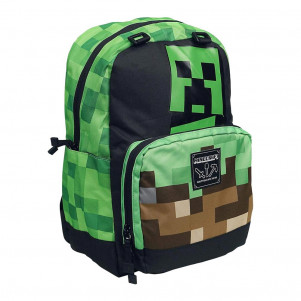 "JINX Рюкзак Minecraft 17"" Creepy Things Backpack-N/A-Green детская игрушка"