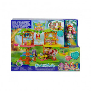 "MATTEL ENCHANTIMALS Набір ""Кафе Джунглоліс Папужки Піккі"" Enchantimals лялька"