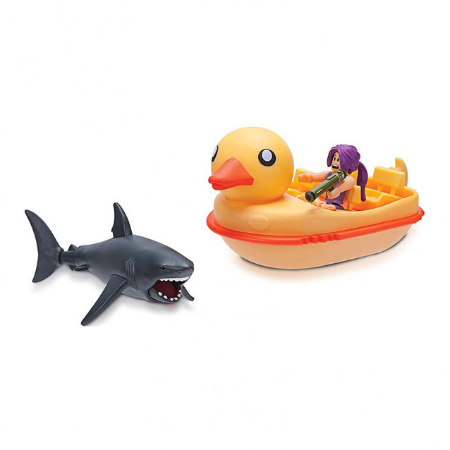 JAZWARES Roblox Набор Feature Vehicle SharkBite: Duck Boat W2 - 1