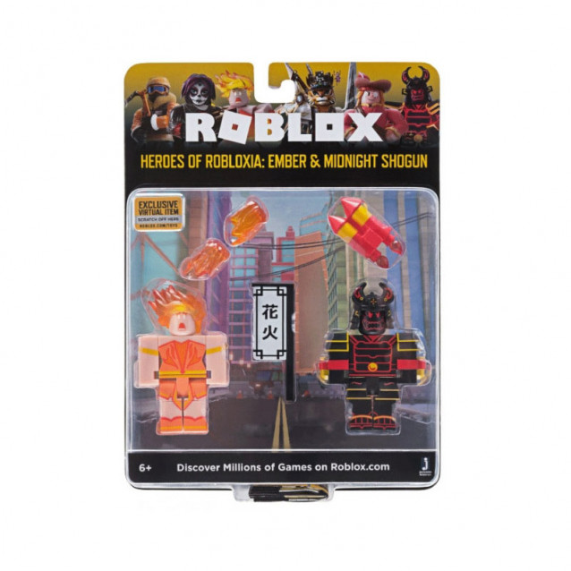 JAZWARES Roblox Набор Game Packs Heroes of Robloxia: Ember & Midnight Shogun W4 - 1