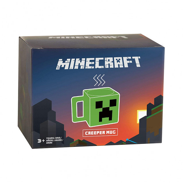 JINX Minecraft Кружка Plastic Creeper Face Mug-N/A-Green (пластикова) - 3