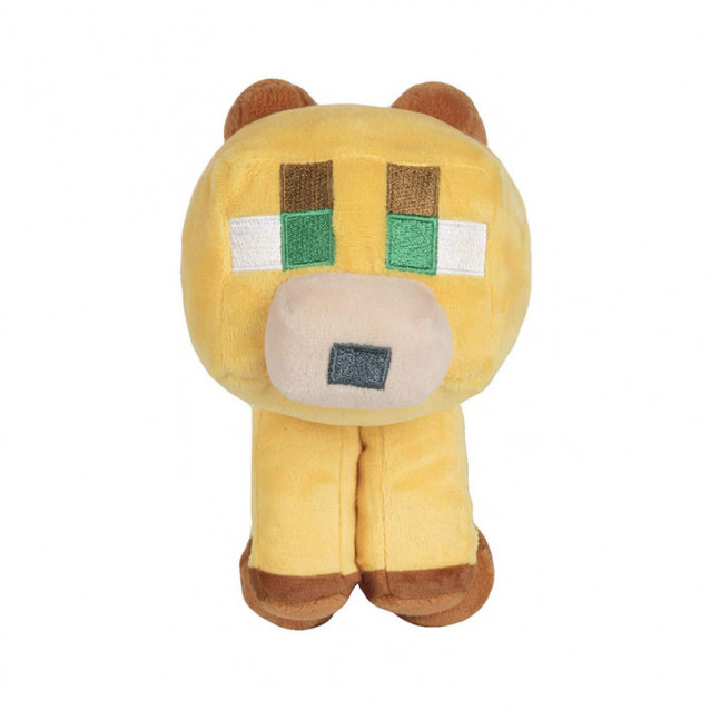 JINX Minecraft Плюшева іграшка Happy Explorer Baby Ocelot Plush-N/A-Yellow - 3