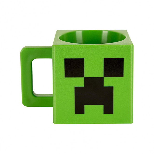 JINX Minecraft Кружка Plastic Creeper Face Mug-N/A-Green (пластикова) - 1